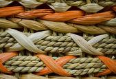 Wicker Orange and Beige Texture — Stock Photo