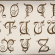 Alphabets.Brilliant latin letters on background part 2. — Stock Photo