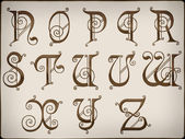 Alphabets.brilliant litery na tle część 2. — Zdjęcie stockowe
