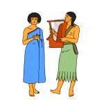 Постер, плакат: Egyptian musicians