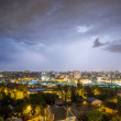 Lightning over the city — Stock Photo