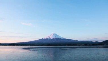 Mt. Fuji at dawn — Stock Video