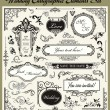 Wedding Designs Set - Stock Vector