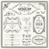 Vintage designs — Stock Vector