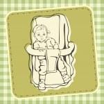 Cute Baby Vector Illustration — Stock Vector