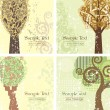 Stock Vector: Vintage Tree Backgrounds