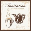 Tea time party invitation with place for your text. — Stockvektor
