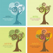 Vector Tree in Four Seasons - Stock Vector