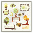 Royalty-Free Stock Imagen vectorial: Vector Tree Panels Set