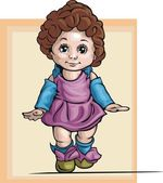 Cute Baby Girl Vector Illustration — Stock Vector