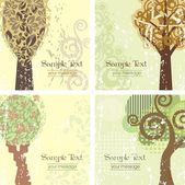 Vintage Tree Backgrounds — Stock Vector