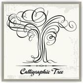 Calligraphic Vector Tree — Stock Vector