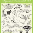 Japanese Traditional Ornaments Vector Set - Stock Vector