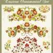 vector floral ornamenten set — Stockvector