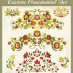 Vector Floral Ornaments Set — Stock Vector
