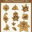 Vector Floral Ornamental Design Elements. - Stock Vector
