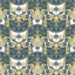 Vector Seamless Ornament Wallpaper — Stock Vector