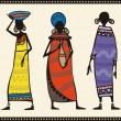 Vector African Women Set - Stock Vector