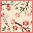 Floral background with ornamental details. - Stock Vector