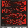 Stock Vector: Vinyl Ready Classic Flames