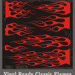 Vinyl Ready Classic Flames - Stock Vector