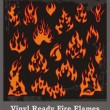 Stock Vector: Vinyl Ready Fire Flames
