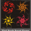 Vinyl Ready Round Flames — Vector de stock #22439975