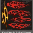 Vinyl Ready Tribal Flames - Stok Vektör