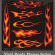 Vinyl Ready Flames Series - Imagens vectoriais em stock