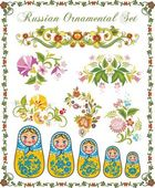 Vector Ornaments in Russian Style — Cтоковый вектор