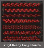 Vinyl Ready Long Flames — Stock Vector
