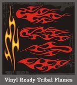 Vinyl Ready Tribal Flames — Stock Vector