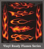 Vinyl Ready Flames Series — Stock Vector