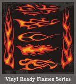 Vinyl Ready Flames Series — Stock Vector