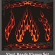 Vinyl Ready Flames Set — Stock Vector