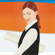 Vector Businesswoman Illustration — Stock Vector