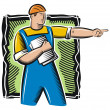 Vector Worker Illustration -  