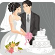 Wedding Vector Illustration — Stock Vector