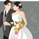 Wedding Vector Illustration — Stock Vector