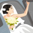 Royalty-Free Stock Imagen vectorial: Beautiful Bride Vector Illustration