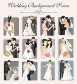 Wedding Vector Illustration Series — ストックベクタ