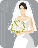 Beautiful Bride Vector Illustration — Stock Vector