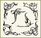 Exquisite Scroll Ornamental Designs — Stock Vector