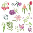 Floral ornamental design elements, vector series. — Stock Vector