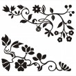 Royalty-Free Stock Vector Image: Ornamental corner designs with floral details, vector series.