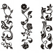 Royalty-Free Stock Vector Image: Ornamental frieze designs with floral details, vector series.