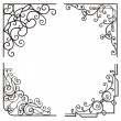 Exquisite Corner Ornamental Designs — Stock Vector
