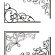 Stock Vector: Exquisite Corner Ornamental Designs