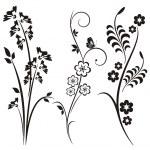 A set of 3 floral design elements. — Stock Vector #22533829