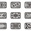 A set of Mexican ornamental designs. — Stock Vector